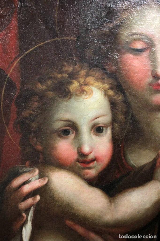 Arte: Vicente López Portaña (1772-1850) Virgen con el niño Jesús. O/L - Foto 3 - 276181893