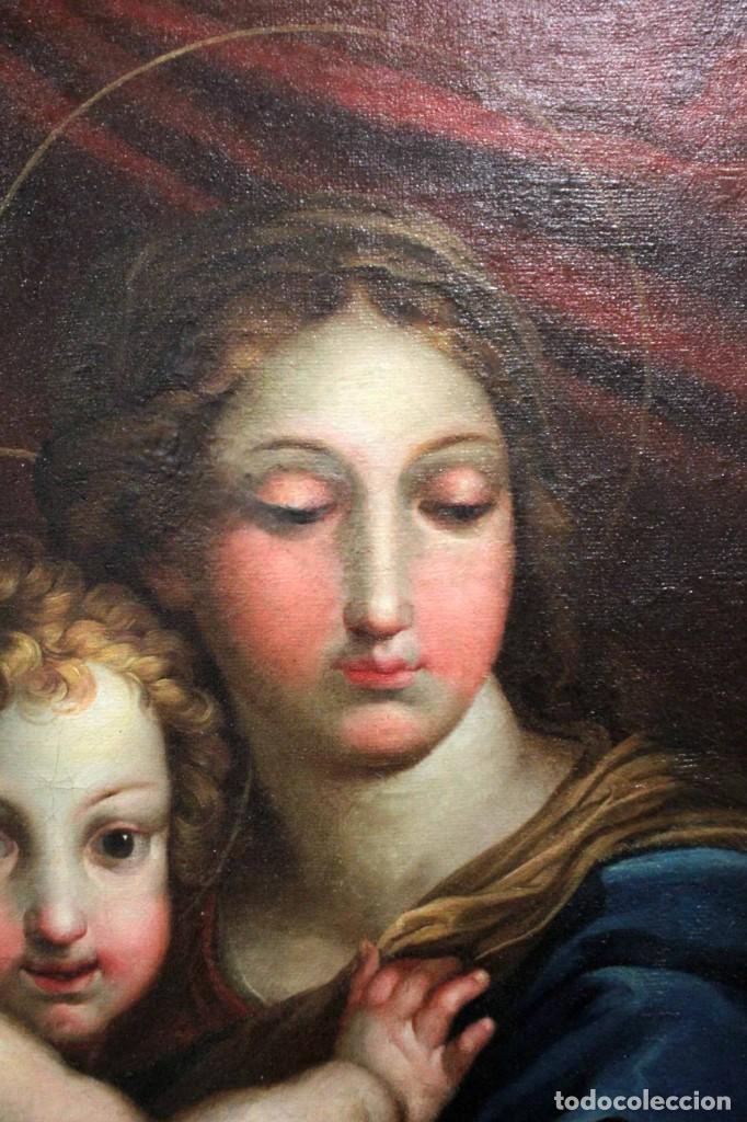 Arte: Vicente López Portaña (1772-1850) Virgen con el niño Jesús. O/L - Foto 4 - 276181893