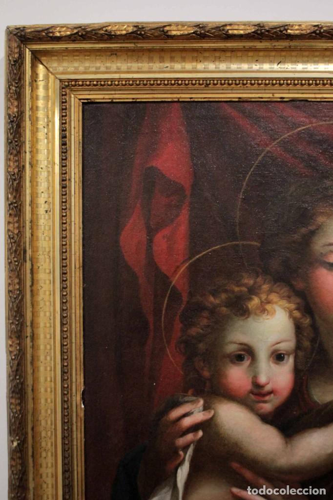 Arte: Vicente López Portaña (1772-1850) Virgen con el niño Jesús. O/L - Foto 19 - 276181893