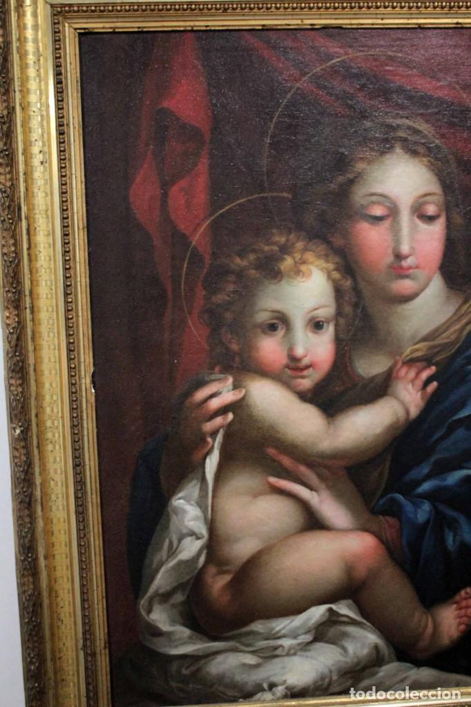Arte: Vicente López Portaña (1772-1850) Virgen con el niño Jesús. O/L - Foto 20 - 276181893