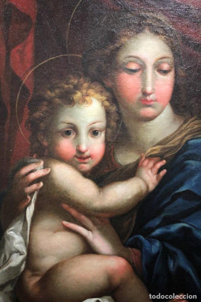 Arte: Vicente López Portaña (1772-1850) Virgen con el niño Jesús. O/L - Foto 21 - 276181893