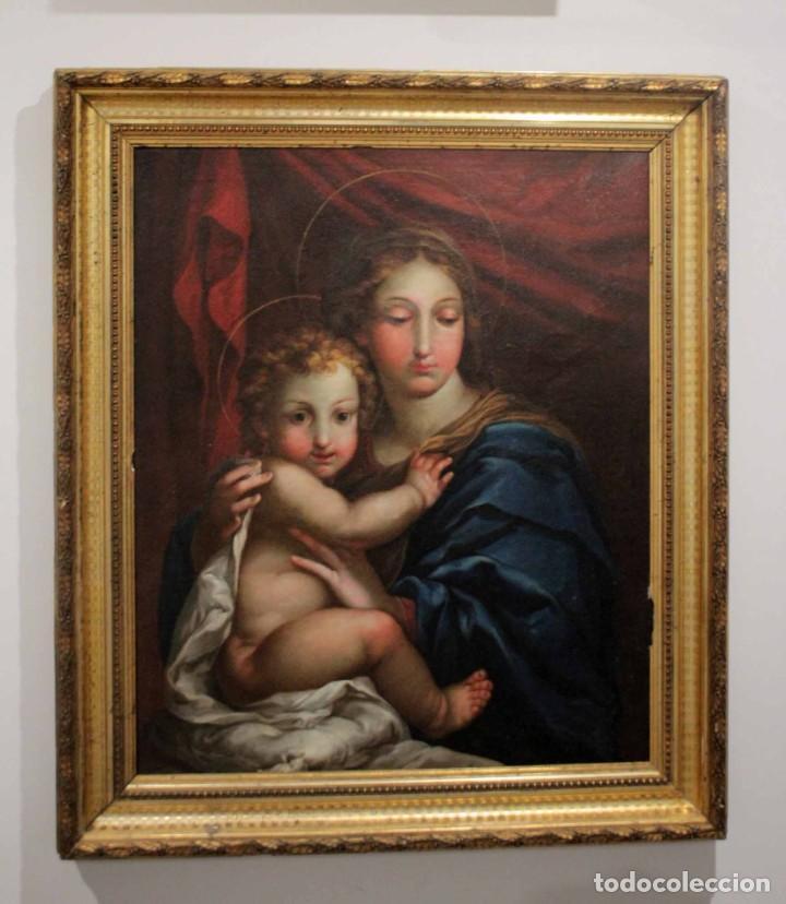 Arte: Vicente López Portaña (1772-1850) Virgen con el niño Jesús. O/L - Foto 22 - 276181893