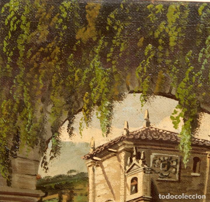 Arte: ANTONIO RUICARVIA (Bilbao, Siglo xx) OLEO SOBRE TELA ARPILLERA Y ADHERIDO A TABLA. CASERIO - Foto 3 - 276239193