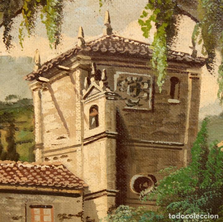 Arte: ANTONIO RUICARVIA (Bilbao, Siglo xx) OLEO SOBRE TELA ARPILLERA Y ADHERIDO A TABLA. CASERIO - Foto 4 - 276239193