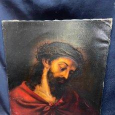 Arte: ECCE HOMO OLEO SOBRE LIENZO, SIGLO XIX.. Lote 276242423