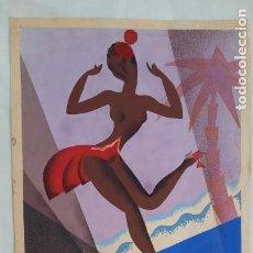 Art: MAGNIFICA PINTURA, TEMPERA O WASH ART-DECO ,ORIGINAL DEL CARTELISTA PASCUAL LLOP. Lote 276267853