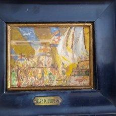 Arte: PINTURA AL OLEO FIRMADA FECHADA 1927,DEL PINTOR DE PUERTO RICO CUBISTA JOSE.R.OLIVER 1901-1979. Lote 276274948