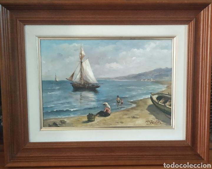 Arte: Óleo original antiguo de Ibiza,firmado - Foto 3 - 276290003