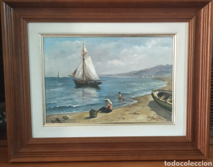 ÓLEO ORIGINAL ANTIGUO DE IBIZA,FIRMADO (Arte - Pintura - Pintura al Óleo Antigua sin fecha definida)
