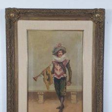 Arte: P. BORRELL (PUIGCERDÁ 1835 - BARCELONA 1910) - ÓLEO SOBRE TELA - FIGURA. Lote 276448048