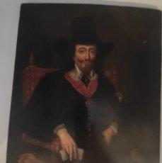 Arte: RETRATO DEL REY CHARLES I, ÓLEO SOBRE TABLA, DEL SIGLO XVII.. Lote 276498168