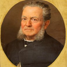 Arte: FRANCESC PARERA MUNTE (C.1850-1920) OLEO SOBRE TELA. RETRATO MASCULINO. Lote 276617378