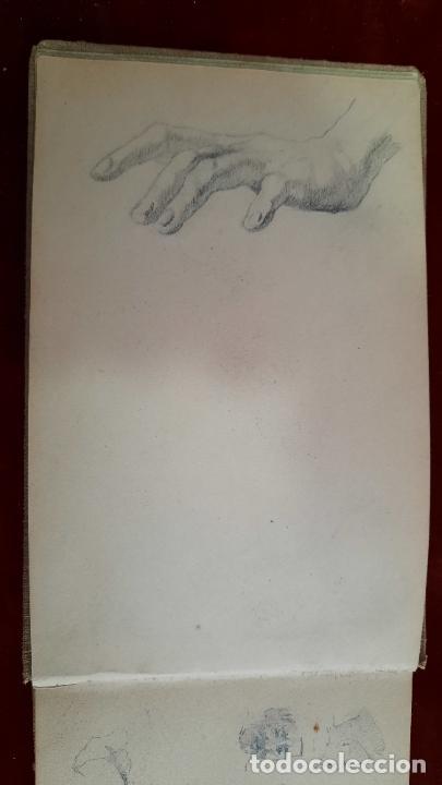 Arte: libreta de apuntes con mas de 100 dibujos un oleo victor morelli 1860,con obra en el museo del prado - Foto 5 - 276777683