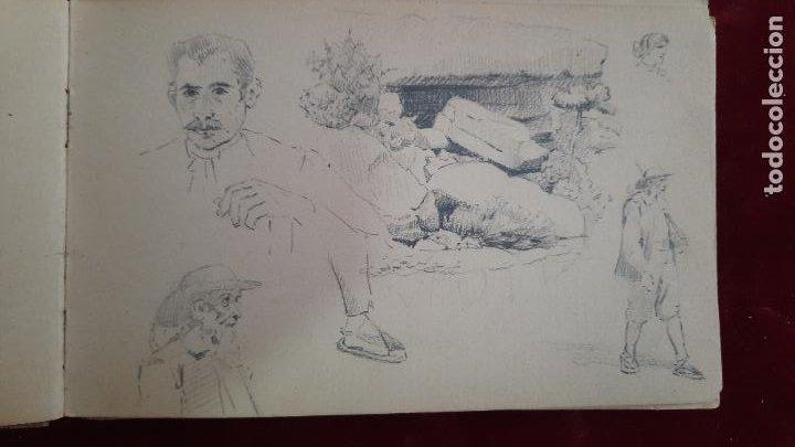 Arte: libreta de apuntes con mas de 100 dibujos un oleo victor morelli 1860,con obra en el museo del prado - Foto 16 - 276777683
