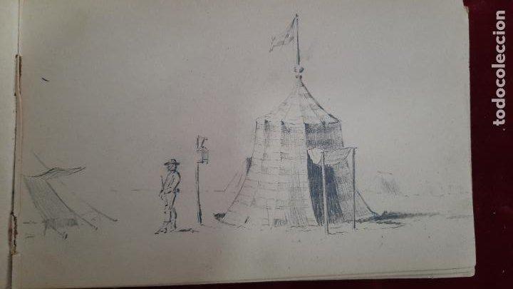 Arte: libreta de apuntes con mas de 100 dibujos un oleo victor morelli 1860,con obra en el museo del prado - Foto 17 - 276777683