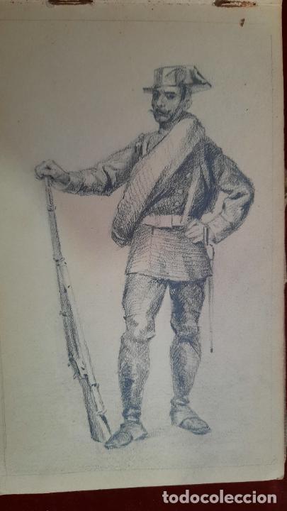 Arte: libreta de apuntes con mas de 100 dibujos un oleo victor morelli 1860,con obra en el museo del prado - Foto 18 - 276777683