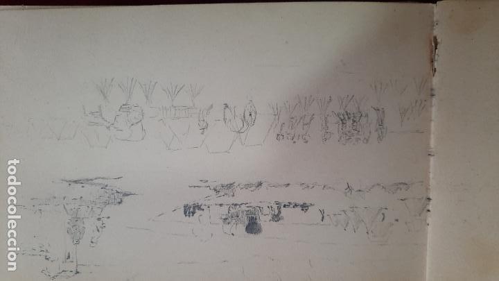 Arte: libreta de apuntes con mas de 100 dibujos un oleo victor morelli 1860,con obra en el museo del prado - Foto 20 - 276777683