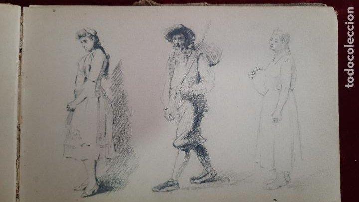 Arte: libreta de apuntes con mas de 100 dibujos un oleo victor morelli 1860,con obra en el museo del prado - Foto 22 - 276777683
