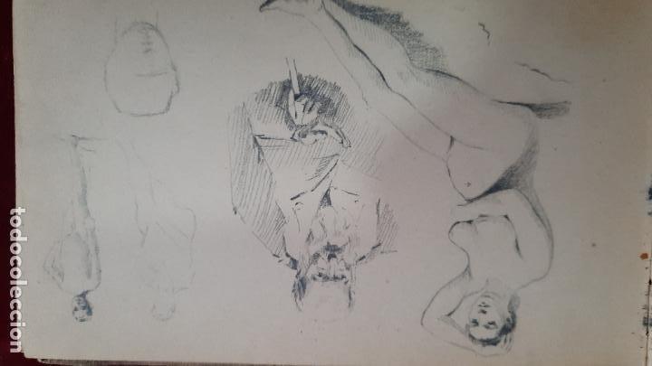 Arte: libreta de apuntes con mas de 100 dibujos un oleo victor morelli 1860,con obra en el museo del prado - Foto 23 - 276777683