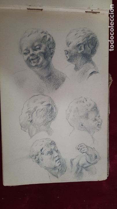 Arte: libreta de apuntes con mas de 100 dibujos un oleo victor morelli 1860,con obra en el museo del prado - Foto 25 - 276777683