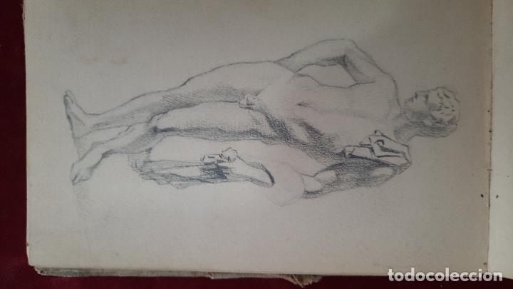 Arte: libreta de apuntes con mas de 100 dibujos un oleo victor morelli 1860,con obra en el museo del prado - Foto 27 - 276777683