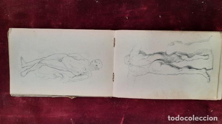 Arte: libreta de apuntes con mas de 100 dibujos un oleo victor morelli 1860,con obra en el museo del prado - Foto 29 - 276777683
