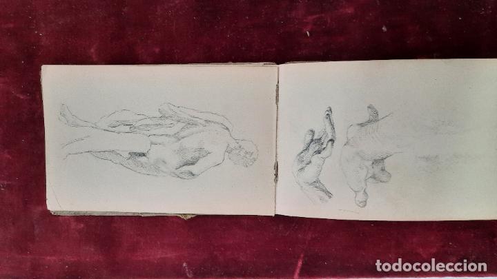 Arte: libreta de apuntes con mas de 100 dibujos un oleo victor morelli 1860,con obra en el museo del prado - Foto 33 - 276777683