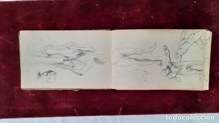 Arte: libreta de apuntes con mas de 100 dibujos un oleo victor morelli 1860,con obra en el museo del prado - Foto 34 - 276777683