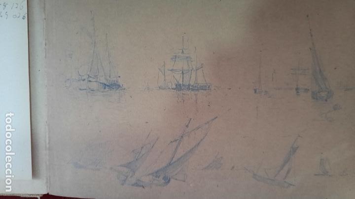 Arte: libreta de apuntes con mas de 100 dibujos un oleo victor morelli 1860,con obra en el museo del prado - Foto 35 - 276777683