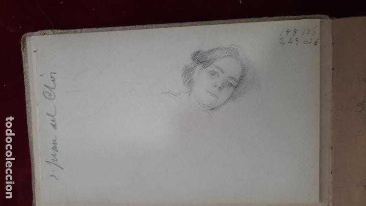 Arte: libreta de apuntes con mas de 100 dibujos un oleo victor morelli 1860,con obra en el museo del prado - Foto 36 - 276777683