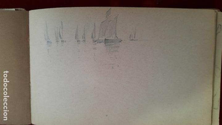 Arte: libreta de apuntes con mas de 100 dibujos un oleo victor morelli 1860,con obra en el museo del prado - Foto 37 - 276777683