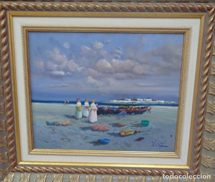 Arte: Óleo sobre tabla J.Lloret - Foto 2 - 276801698