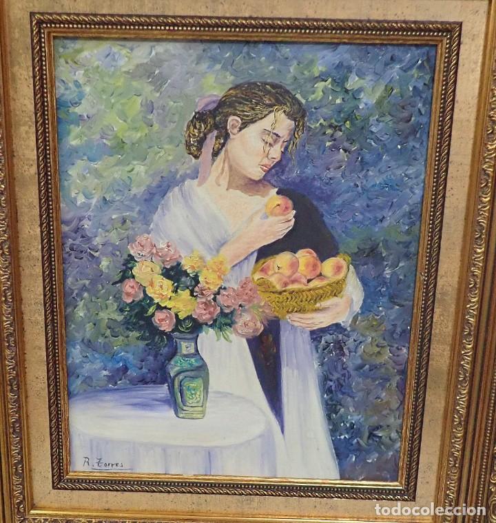 Arte: Óleo sobre lienzo R.Torres - Foto 2 - 276802748