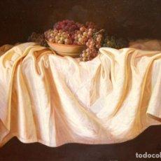 Arte: JOSE PEREZ COLLAR (ARBEYALES, 1948) OLEO SOBRE TELA. BODEGON. 81 X 100 CM.. Lote 276906093