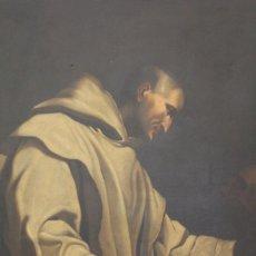 """Arte: SEGUIDOR DE CARLO BONONI """"SAN BRUNO EN MEDITACIÓN"""" (S. XVIII). Lote 277000978"""