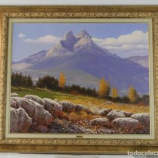 Arte: ALBERT CARNICÉ TURA (1947). ÓLEO SOBRE LIENZO. EL PEDRAFORCA 1997. MEDIDAS: 81.5 X 100 CM.. Lote 277016148
