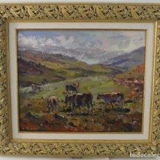 Arte: JOAN SALLENT I TATJER (1926-2019). ÓLEO SOBRE LIENZO. PLANS D'ANYELLA. Lote 277020268