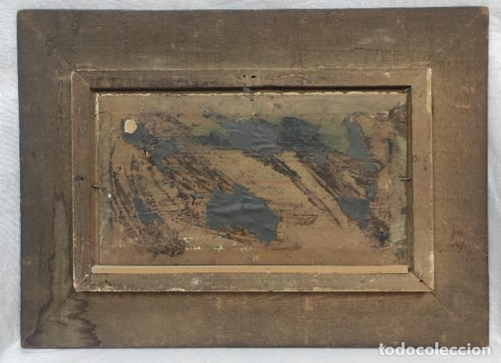 "Arte: ""Paisaje nevado"" de Félix Urgellés Tovar (1845-1919), óleo sobre table de 1898. - Foto 6 - 277043298"
