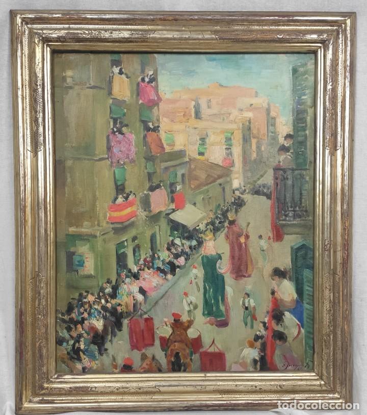 """""""CORPUS GRACIA"""" DE OLEGUER JUNYENT SANS (1876-1956) DE 1947. ÓLEO SOBRE TELA. (Arte - Pintura - Pintura al Óleo Contemporánea )"""