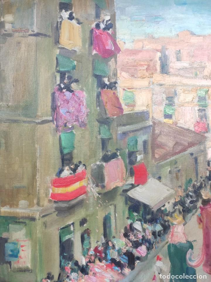 """Arte: """"Corpus Gracia"""" de Oleguer Junyent Sans (1876-1956) de 1947. Óleo sobre tela. - Foto 2 - 277044443"""