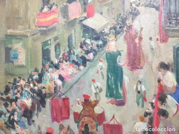 """Arte: """"Corpus Gracia"""" de Oleguer Junyent Sans (1876-1956) de 1947. Óleo sobre tela. - Foto 3 - 277044443"""