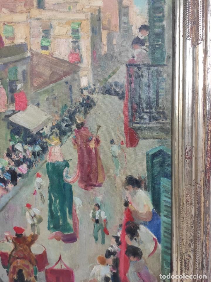 """Arte: """"Corpus Gracia"""" de Oleguer Junyent Sans (1876-1956) de 1947. Óleo sobre tela. - Foto 4 - 277044443"""