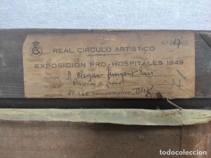 """Arte: """"Corpus Gracia"""" de Oleguer Junyent Sans (1876-1956) de 1947. Óleo sobre tela. - Foto 7 - 277044443"""