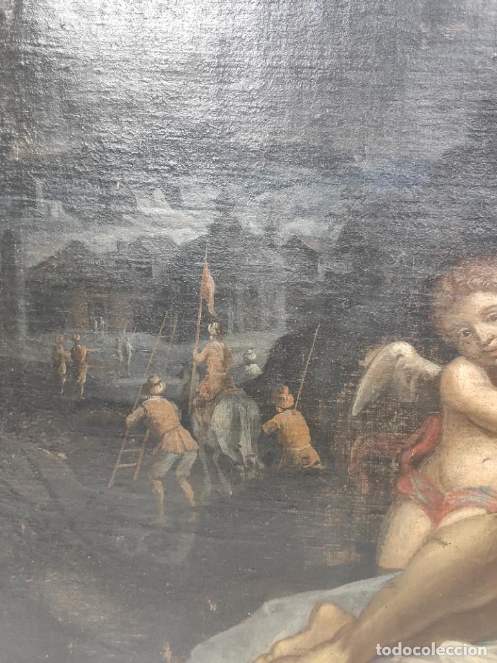 """Arte: """"Piedad"""", escuela italiana, de finales del siglo XVII- principios del siglo XVII. Óleo sobre lienzo. - Foto 3 - 277049023"""