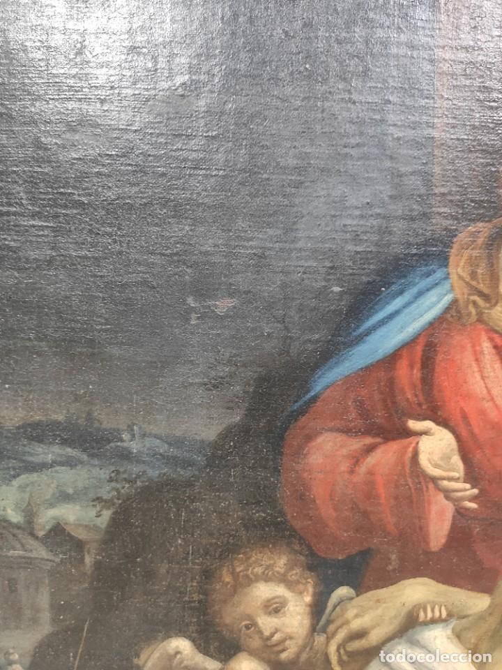 """Arte: """"Piedad"""", escuela italiana, de finales del siglo XVII- principios del siglo XVII. Óleo sobre lienzo. - Foto 4 - 277049023"""