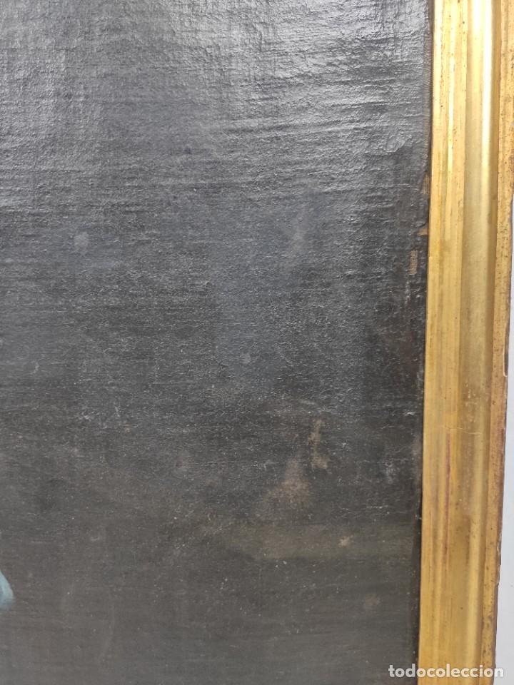 """Arte: """"Piedad"""", escuela italiana, de finales del siglo XVII- principios del siglo XVII. Óleo sobre lienzo. - Foto 5 - 277049023"""