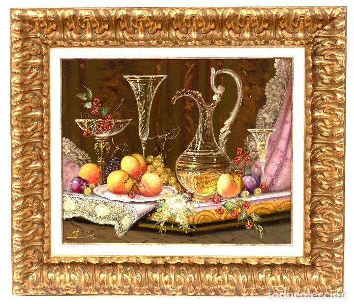 ROBERTO MICHEL - BARCELONA 1.944 ÓLEO- NATURALEZA MUERTA - ENMARCADO. (Arte - Pintura - Pintura al Óleo Moderna sin fecha definida)