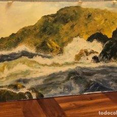 Arte: OLEO SOBRE LIENZO MIGUEL FRANCO, PINTOR DE LUGO, GALICIA. Lote 277091888