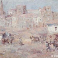 Arte: LUIS GARCÍA CAMPOS. TITULO: CIRAUQUI (NAVARRA). Ó/L. MIDE 129 X 88 CM.. Lote 277092683