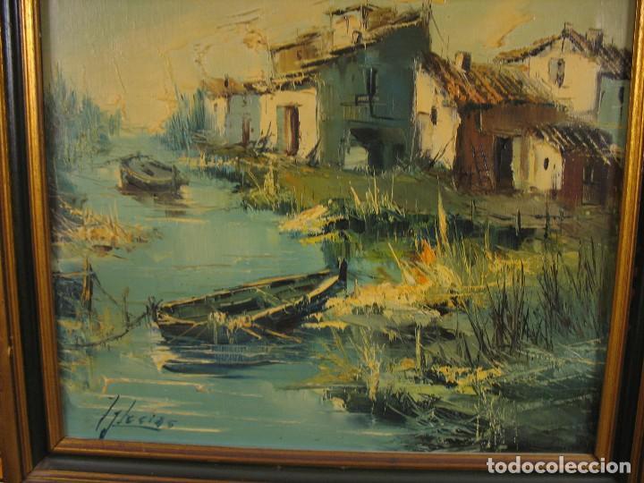 Arte: cuadro al oleo sobre tela firmado - Foto 3 - 277097263